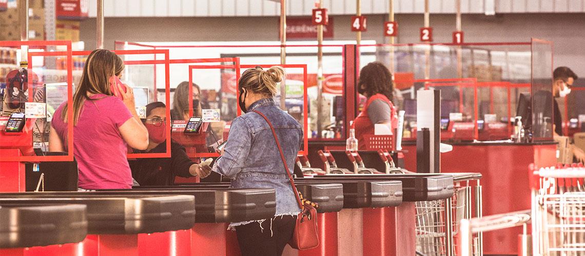 Caixa Check Out Supermercado