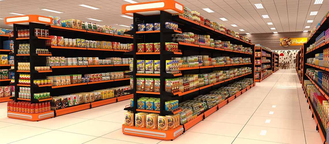 Gondolas de Aço para Supermercado