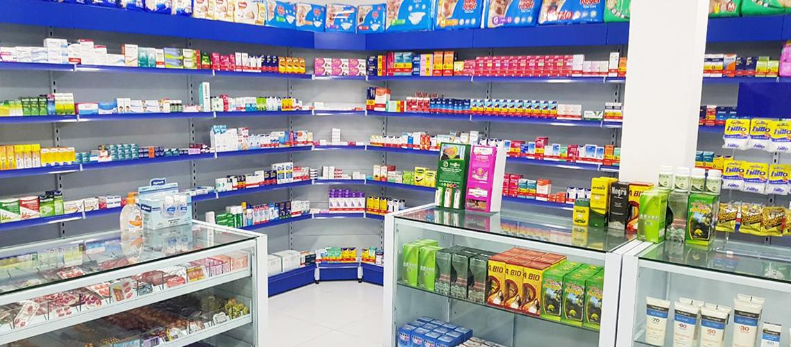 Gôndolas para Farmácia