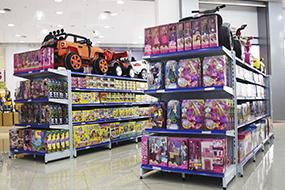 Gôndolas para Loja de Brinquedos